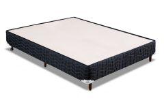 Cama Box Orthocrin Sommier Plus Black - Cama Box Solteiro - 0,88x1,88x0,24 - Sem Colchão