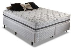 Colchão Herval de Molas Pocket Visby Plus Euro Pillow - Colchão Casal-1,38x1,88x0,28-Sem Cama Box