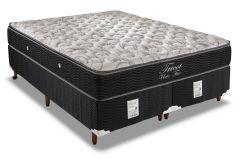 Colchão Orthoflex de Molas Pocket Tricot Black Pillow Top - Colchão Solteiro - 0,88x1,88x0,28 - Sem Cama Box