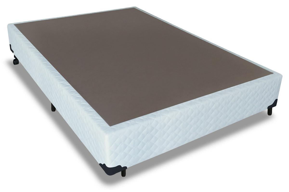 Cama Box Base Probel Tecido Branco - Colchão Probel