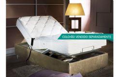 Cama Box Herval Regulável MH 1430  com Massagem (Não Acompanha Colchão Pocket MH 1430) - Cama Box Solteiro - 1,01x2,03x0,29 - Sem Colchão