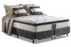Conjunto Cama Box - Colchão Herval de Molas Pocket Dream Sensation + Cama Box Universal Nobuck Black -