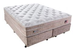 Conjunto Cama Box - Colchão Sealy de Molas Pocket Miami + Cama Box Universal Courino Bianco -