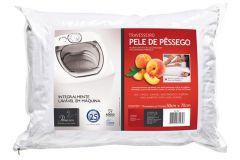 Travesseiro Fibrasca Pele de Pêssego Fibras Siliconizada Lavável p/Fronha 50x70 - Travesseiro Fibrasca