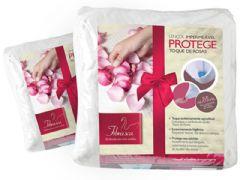 Protetor de Colchão Fibrasca Protege Toque de Rosas Impermeável - Travesseiro Fibrasca