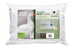 Travesseiro Fibrasca Ecopluma Fibras Siliconizada Conforto Penas de Ganso Lavável p/Fronha 50x70 - Travesseiro Fibrasca
