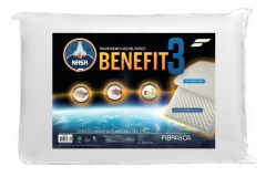 Travesseiro Fibrasca Nasa Benefit 3 Viscoelástico Massageador p/Fronha 50x70 -