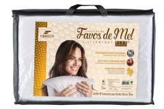 Travesseiro Fibrasca Favos de Mel Fibras Siliconizada Lavável p/Fronha 50x70 - Travesseiro Fibrasca