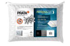 Travesseiro Fibrasca Personal Mix 3 Latéx e Viscoelático c/ Íons de Prata Altura Regulável p/Fronha 50x70 - Travesseiro Fibrasca