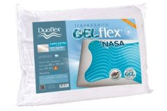 Travesseiro Duoflex Gelflex Nasa Viscoelástico GN1101 c/ Capa Percal 200 Fios P/Fronha 50x70 (14cm) - Travesseiro Duoflex