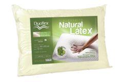 Travesseiro Duoflex Natural Látex c/ Capa Percal 200 Fios - Travesseiro Duoflex