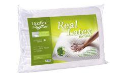 Travesseiro Duoflex Real Látex Alto LS1100 c/ Capa Dry Fresh (16cm Alt.) - Travesseiro Duoflex