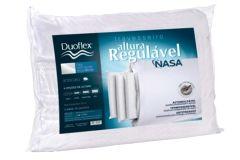 Travesseiro Duoflex Altura Regulável Nasa Viscoelástico RN1100 4 Alturas (10/20cm) P/Fronha 50x70 - Travesseiro Duoflex