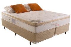 Colchão Herval de Molas Pocket Poésie Suede Bambu Euro Pillow - Colchão Herval
