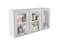 Armário de Cozinha Itatiaia Criativa IPV3-105 MX Aço c/ 3 Portas c/ Vidro 105cm - Cozinha Itatiaia