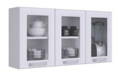 Armário de Cozinha Itatiaia Luce IPV3-105 Aço c/ 3 Portas c/ vidro 105 cm - Cor Branco