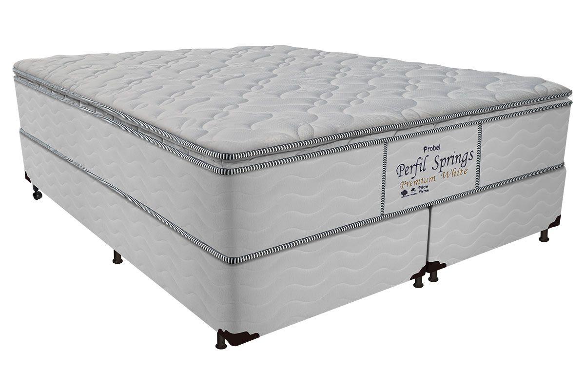 Colchão Probel de Molas Pocket Perfil Springs Premium White Pillow Top - Colchão Probel