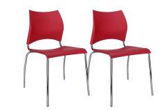 Cadeira Carraro 357 Aço Cromada (Jogo c/ 2 Unidades) - Móveis Carraro