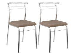 Cadeira Carraro 1708 Aço Cromada (Jogo c/ 2 Unidades) - Móveis Carraro
