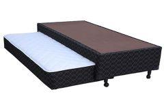 Bicama Box Paropas Sleeping Black Tecido c/ Auxiliar - Colchão Paropas