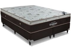 Colchão Ortobom de Molas Pocket  Sleep King Látex Euro Pillow - Colchão Solteiro - 0,88x1,88x0,32 - Sem Cam Box