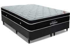 Colchão Ortobom de Molas Pocket Elegant Euro Pillow - Colchão Queen Size - 1,58x1,98x0,28 - Sem Cama Box