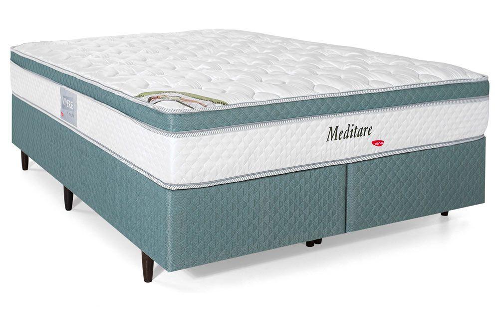 Colchão Herval de Molas Pocket Meditare Pillow Top One side - Colchão Herval