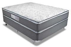 Colchão Luckspuma de Molas Pocket Satisfaction Plus  Pillow Top Duplo - Colchão Solteiro - 0,88x1,88x0,30 - Sem Cama Box