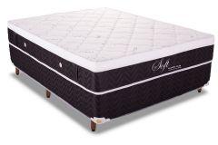 Colchão Polar Soft Black 138x188x28cm Molas Pocket Casal