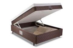 Conjunto Cama Box Baú + Colchão Conjugado Herval de Molas Pocket Dubai MH 1818 - Colchão Herval