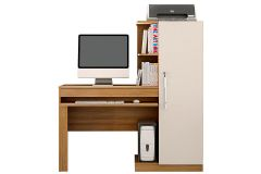 Escrivaninha p/ Computador Valdemóveis Office c/ 1 Porta e Suporte CPU - Móveis Valdemóveis