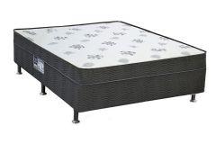 Conjunto Cama Box + Colchão Conjugado Ortobom de Molas Nanolastic Union - Casal  - 1,38x1,88