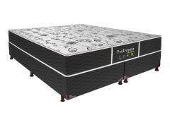 Colchão Probel de Molas Prolastic Pró Dormir Black Euro Pilow - Colchão Solteiro - 0,88x1,88x0,22 - Sem Cama Box
