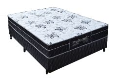Conjunto Cama Box - Colchão Probel de Molas Pocket Springs Black + Cama Box Universal Couríno Black -
