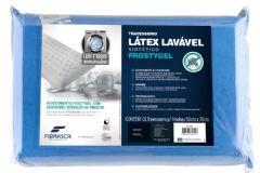 Travesseiro Fibrasca Frostygel Sensação Frescor T.Látex  Lavável p/Fronha 50x70 - Travesseiro Fibrasca