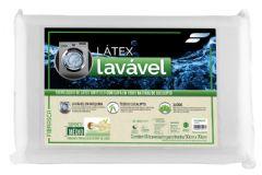 Travesseiro Fibrasca Látex Eucaliptus Lavável p/Fronha 50x70 - Travesseiro Fibrasca