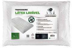 Travesseiro Fibrasca T.Látex Plus Lavável p/Fronha 50x70 - Travesseiro Fibrasca