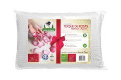 Travesseiro Fibrasca Toque de Rosas Conforto de Látex Médio c/ íons de Prata p/Fronha 50x70 - Travesseiro Fibrasca