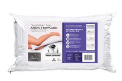 Travesseiro Fibrasca Fibras Siliconizada p/ Joelho e Tornozelo Lavável - Travesseiro Fibrasca