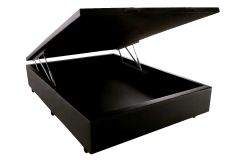 Cama Box Baú Sealy Courino Black -