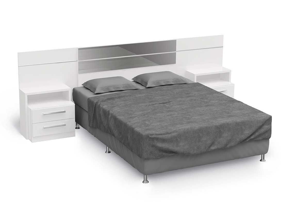 Cabeceira cama box casal queen kappesberg b290 com criado for Cama queen costa rica