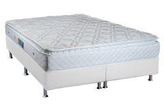 Colchão Luckspuma de Molas Bonnel Trade Pillow Top White - Colchão Solteiro - 0,88x1,88x0,30 - Sem Cama Box