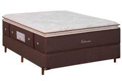 Colchão Simbal de Molas Pocket Baltimore Pillow Top - Colchão Casal - 1,38x1,88x0,41 - Sem Cama Box