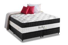 Colchão Anjos de Molas Pocket Black Forest Visco Siliconado Euro Pillow - Colchão Solteirão - 0,96x2,03x0,40 Sem Cama Box