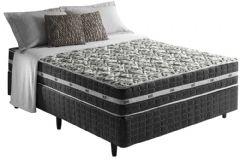 Colchão Anjos de Molas Pocket  Black Graphite Fibra Siliconada Euro Pillow - Colchão Solteiro - 0,88x1,88x0,22 - Sem Cama Box