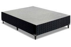 Cama Box Base Anjos Couríssimo Black - Cama Box Solteiro - 0,88x1,88x0,25 - Sem Colchão
