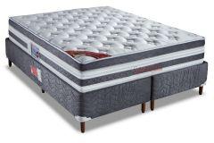 Colchão Orthocrin de Molas Pocket Supreme Plus Visco Pillow Top Pró Saúde Selado INER - Colchão Solteiro-0,88x1,88x0,34 Sem Cama Box