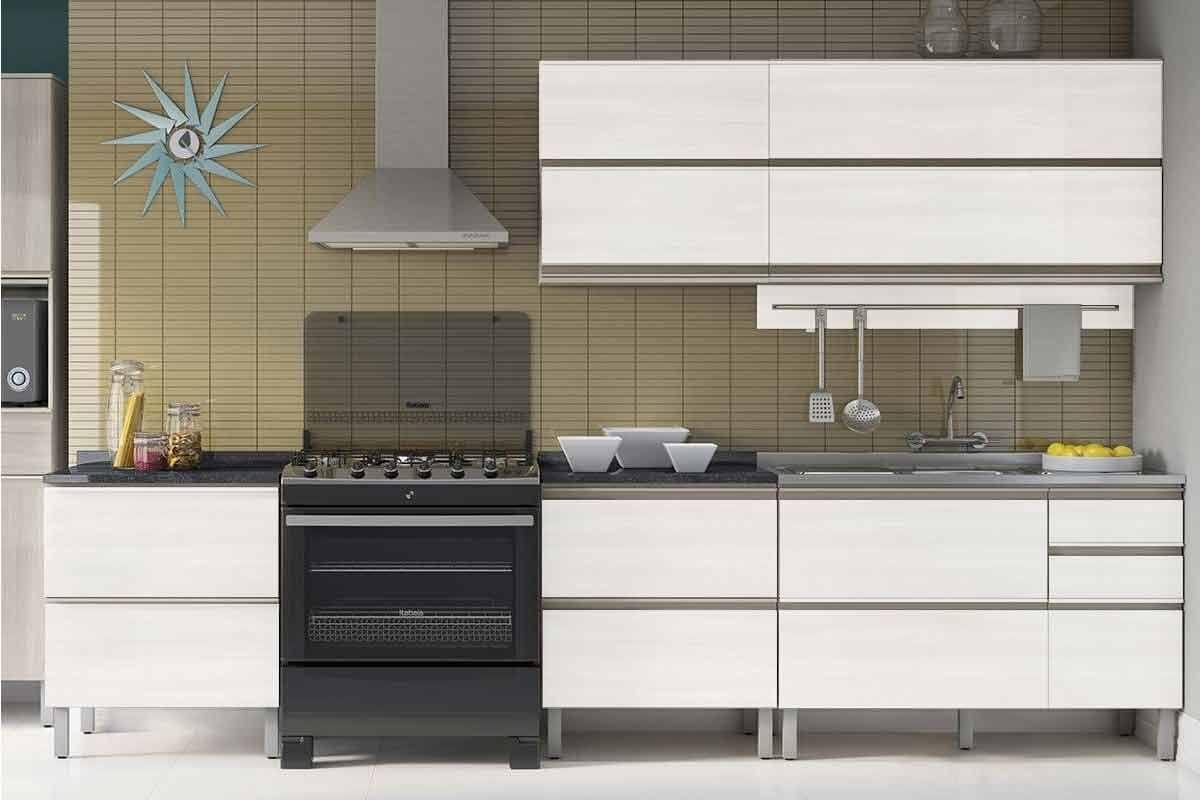 Cozinha Completa Itatiaia Bel Ssima Plus De Madeira Cz33 Na Costa