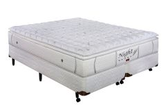 Colchão Pelmex de Molas Pocket Night Bambu Branco Pillow Top - Colchão Solteiro - 0,88x1,88x0,32 - Sem Cama Box