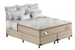 Colchão Pelmex de Molas Pocket Night Bambu Bege Pillow Top - Colchão Queen Size - 1,58x1,98x0,32 - Sem Cama Box